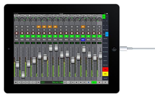 iPad V-Console 16-fader Wired Connection